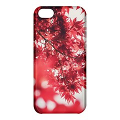 Maple Leaves Red Autumn Fall Apple Iphone 5c Hardshell Case by Sapixe