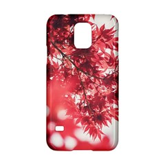 Maple Leaves Red Autumn Fall Samsung Galaxy S5 Hardshell Case  by Sapixe