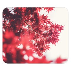 Maple Leaves Red Autumn Fall Double Sided Flano Blanket (small)  by Sapixe