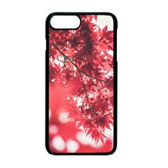 Maple Leaves Red Autumn Fall Apple Iphone 7 Plus Seamless Case (black) by Sapixe