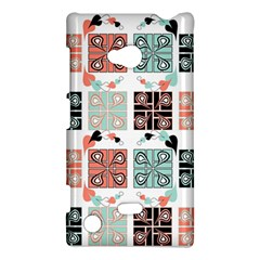 Mint Black Coral Heart Paisley Nokia Lumia 720 by Sapixe