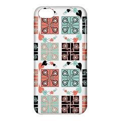Mint Black Coral Heart Paisley Apple Iphone 5c Hardshell Case by Sapixe