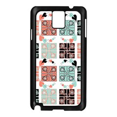 Mint Black Coral Heart Paisley Samsung Galaxy Note 3 N9005 Case (black) by Sapixe