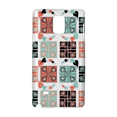 Mint Black Coral Heart Paisley Samsung Galaxy Note 4 Hardshell Case by Sapixe
