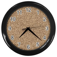 Mosaic Pattern Background Wall Clocks (black) by Sapixe