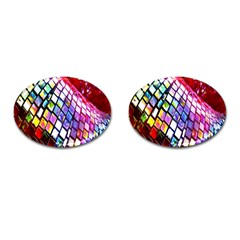Multicolor Wall Mosaic Cufflinks (oval) by Sapixe