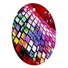 Multicolor Wall Mosaic Oval Ornament (two Sides) by Sapixe