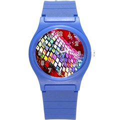 Multicolor Wall Mosaic Round Plastic Sport Watch (s) by Sapixe
