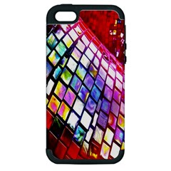 Multicolor Wall Mosaic Apple Iphone 5 Hardshell Case (pc+silicone) by Sapixe