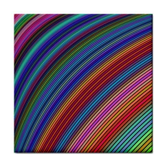 Multicolored Stripe Curve Striped Tile Coasters by Sapixe