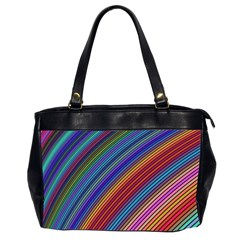 Multicolored Stripe Curve Striped Office Handbags (2 Sides)  by Sapixe