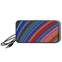 Multicolored Stripe Curve Striped Portable Speaker by Sapixe
