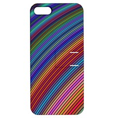 Multicolored Stripe Curve Striped Apple Iphone 5 Hardshell Case With Stand by Sapixe