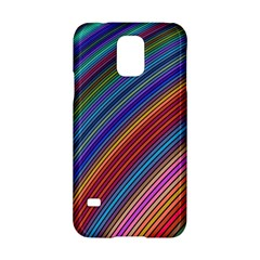 Multicolored Stripe Curve Striped Samsung Galaxy S5 Hardshell Case  by Sapixe