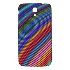 Multicolored Stripe Curve Striped Samsung Galaxy Mega I9200 Hardshell Back Case by Sapixe