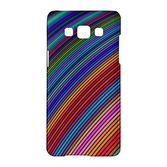 Multicolored Stripe Curve Striped Samsung Galaxy A5 Hardshell Case  by Sapixe