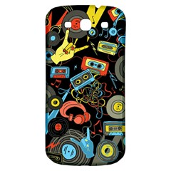 Music Pattern Samsung Galaxy S3 S Iii Classic Hardshell Back Case by Sapixe