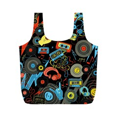 Music Pattern Full Print Recycle Bags (m)  by Sapixe