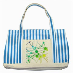 Network Connection Structure Knot Striped Blue Tote Bag by Sapixe