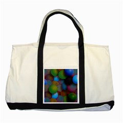Multicolored Patterned Spheres 3d Two Tone Tote Bag