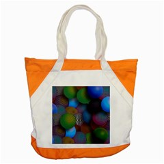 Multicolored Patterned Spheres 3d Accent Tote Bag by Sapixe