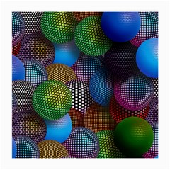 Multicolored Patterned Spheres 3d Medium Glasses Cloth by Sapixe