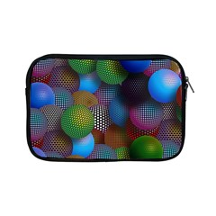 Multicolored Patterned Spheres 3d Apple Ipad Mini Zipper Cases by Sapixe