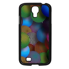 Multicolored Patterned Spheres 3d Samsung Galaxy S4 I9500/ I9505 Case (black) by Sapixe