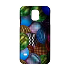 Multicolored Patterned Spheres 3d Samsung Galaxy S5 Hardshell Case  by Sapixe