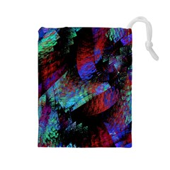 Native Blanket Abstract Digital Art Drawstring Pouches (large)