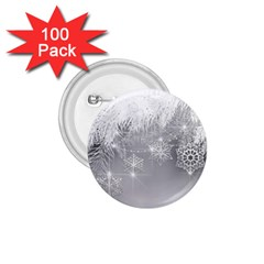 New Year Holiday Snowflakes Tree Branches 1 75  Buttons (100 Pack)  by Sapixe
