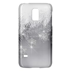 New Year Holiday Snowflakes Tree Branches Galaxy S5 Mini by Sapixe