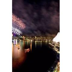 New Year's Evein Sydney Australia Opera House Celebration Fireworks 5 5  X 8 5  Notebooks by Sapixe