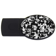 Noise Texture Graphics Generated Usb Flash Drive Oval (4 Gb)
