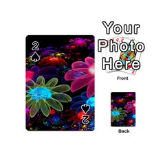 Nice 3d Flower Playing Cards 54 (mini)  by Sapixe