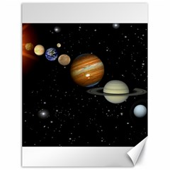 Outer Space Planets Solar System Canvas 18  X 24   by Sapixe