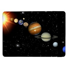 Outer Space Planets Solar System Samsung Galaxy Tab Pro 12 2  Flip Case by Sapixe
