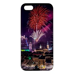 New Year New Year's Eve In Salzburg Austria Holiday Celebration Fireworks Apple Iphone 5 Premium Hardshell Case by Sapixe