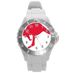 Australian Army Vehicle Insignia Round Plastic Sport Watch (l)