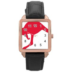 Australian Army Vehicle Insignia Rose Gold Leather Watch