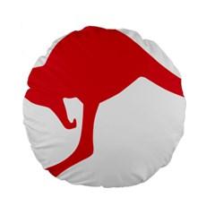 Australian Army Vehicle Insignia Standard 15  Premium Flano Round Cushions