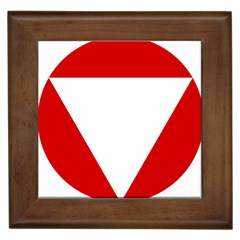 Roundel Of Austrian Air Force  Framed Tiles
