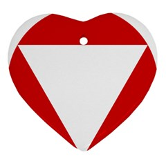 Roundel Of Austrian Air Force  Ornament (heart)