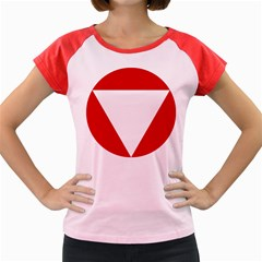 Roundel Of Austrian Air Force  Women s Cap Sleeve T Shirt