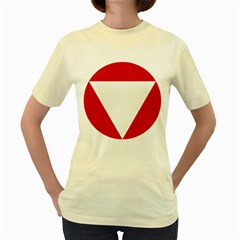 Roundel Of Austrian Air Force  Women s Yellow T Shirt