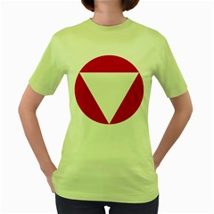 Roundel Of Austrian Air Force  Women s Green T Shirt