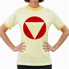 Roundel Of Austrian Air Force  Women s Fitted Ringer T Shirts