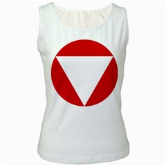 Roundel Of Austrian Air Force  Women s White Tank Top