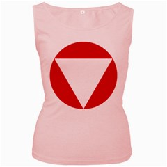 Roundel Of Austrian Air Force  Women s Pink Tank Top