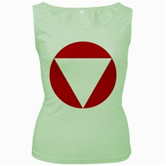 Roundel Of Austrian Air Force  Women s Green Tank Top